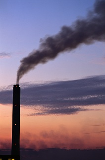 Smokestack with column of smoke