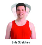 Demonstration of side stretches.