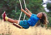 Picture of a young girl on a swing